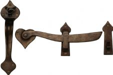M Marcus Solid Bronze Rustic RBL568 Gate Latch Real Bronze
